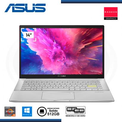 "LAPTOP ASUS VIVOBOOK S14 M433UA-EB046T AMD RYZEN 5 5500U 14""/8GB/SSD 512GB/WIN 10 RESOLUTE RED (PN:90NB0TM1-M01870)"