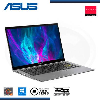 "LAPTOP ASUS VIVOBOOK S14 M433UA-EB012T AMD RYZEN 5 5500U 14""/8GB/SSD 512GB/WIN 10 INDIE BLACK (PN:90NB0TM4-M01850)"