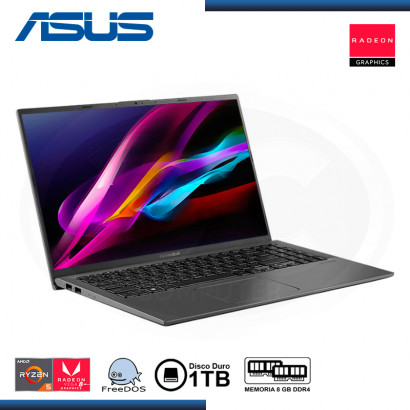 "LAPTOP ASUS VIVOBOOK 15 X512DA-BQ1693 AMD RYZEN 5 3500U 15.6""/8GB/HDD 1TB/FREE DOS (PN:90NB0LZ3-M29350)"