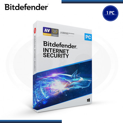 BITDEFENDER INTERNET SECURITY 2019 1PC + 1PC 15 MESES + 1 ANDROID