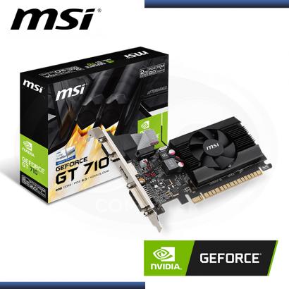 MSI GEFORCE GT 710 2GB DDR3 64BITS (PN:GT7102GD3LP)