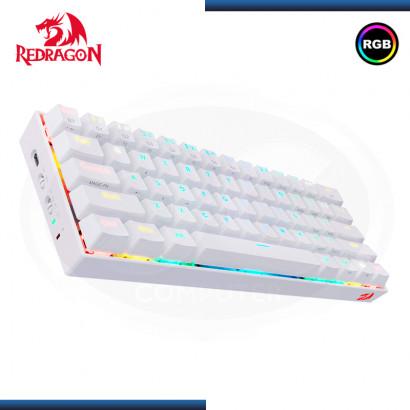 TECLADO REDRAGON DRACONIC K530W-RGB WHITE MECANICO SWITCH BROWN SIN NUMERICO (PN:K530W-RGB)