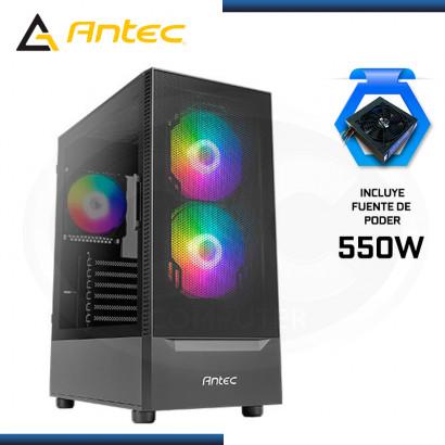 CASE ANTEC NX4155 BLACK CON FUENTE 550W VIDRIO TEMPLADO USB 3.0/USB 2.0 (PN:0-761345-81043-2)