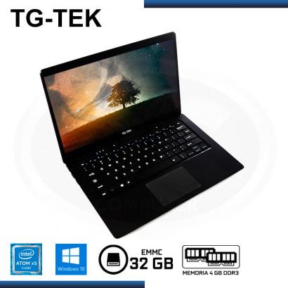 "LAPTOP TG-TEK TGL1401-BK ATOM X5-Z8350 14.1""/4GB DDR3/EMMC 32GB/WIND 10 BLACK  + MOCHILA KLIP XTREME GALLANT (PN:KNB-581GR)"
