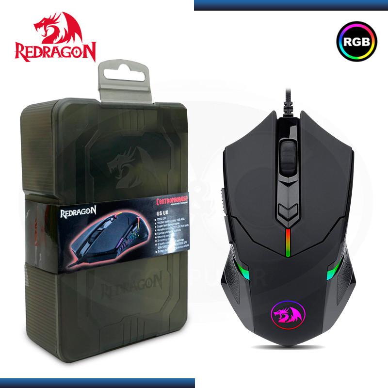 MOUSE REDRAGON CENTROPHORUS M601-RGB 7200 DPI BLACK USB