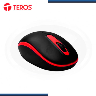 MOUSE TEROS TE-5030R WIRELESS BLACK RED DPI 1000 DPI (PN:TE-5030R)