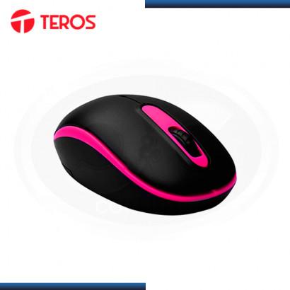 MOUSE TEROS TE-5030P WIRELESS BLACK PINK DPI 1000 DPI (PN:TE-5030P)