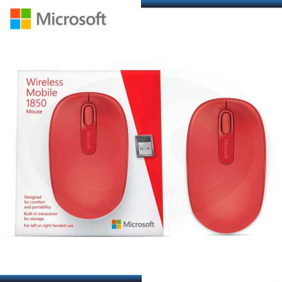 MOUSE MOBILE 1850 RED MICROSOFT WIRELESS USB (PN:U7Z-00031)