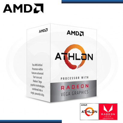 PROCESADOR AMD ATHLON 3000G 3.5GHZ/5MB 2CORE RADEON VEGA 3 (PN:YD3000C6FHBOX)