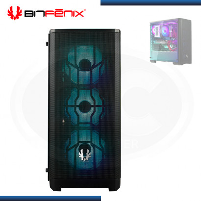 CASE BITFENIX NOVA MESH TG BLACK SIN FUENTE VIDRIO TEMPLADO USB 3.0 (PN:BFC-NVM-300-KKGSK-4A)