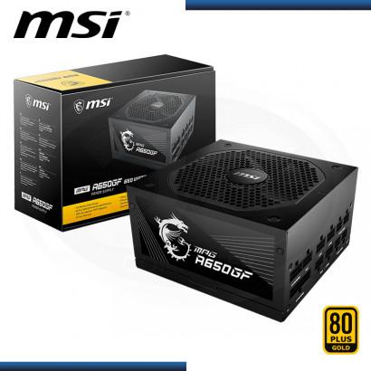 FUENTE MSI MPG A650GF 650W 80 PLUS GOLD MODULAR (PN:306-7ZP0A12-CE0)