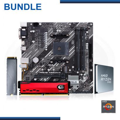 C&C COMBO : AMD RYZEN 3 PRO 4350G + MB ASUS PRIME A520M-A + MEMORIA 8GB DDR4 GEIL ORION + SSD 250 GB SWORDFISH (REF:0-61145)