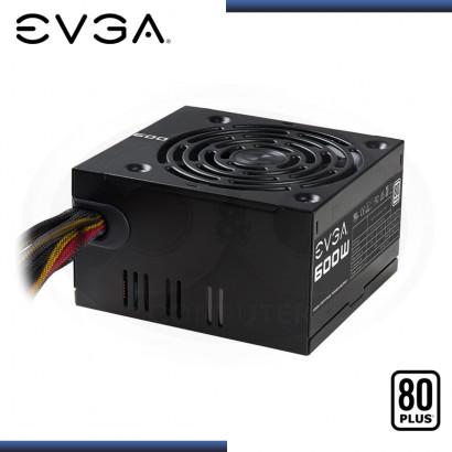 FUENTE DE PODER EVGA 600W 80 PLUS WHITE (PN:100-W1-0600-K1)