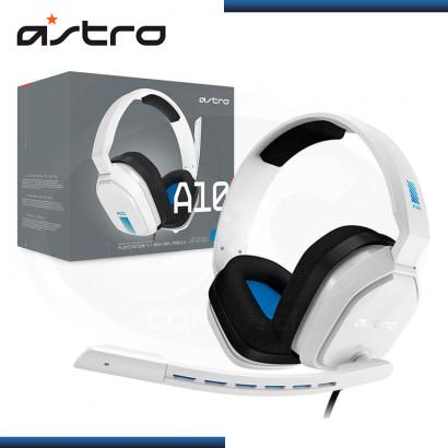 AUDIFONO ASTRO A10 BLACK WHITE CON MICROFONO (PN:939-001845)
