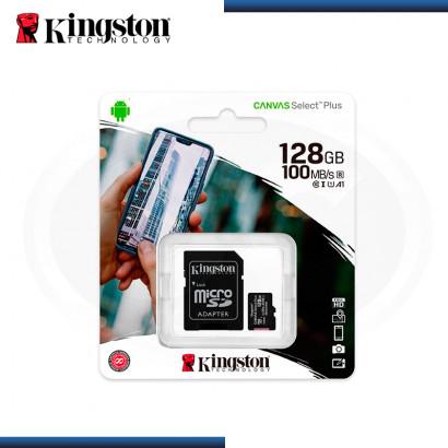 MEMORIA 128GB KINGSTON MICRO SD CANVAS SELECT PLUS (PN:SDCS2/128GB)