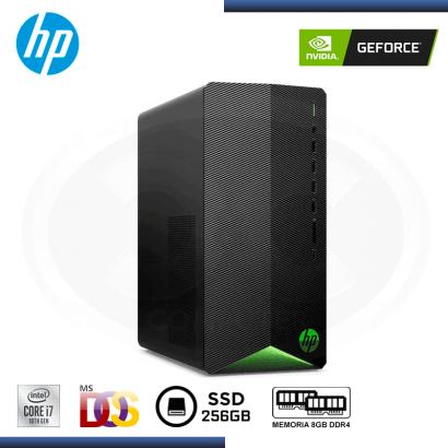 DESKTOP GAMING HP PAVILION TG01-1009LA GEFORCE GTX 1650/CI7-10700/8GB DDR4/SSD 256GB/**OBSEQUIO MONITOR  HP 27X** (PN:2A5W1AA)