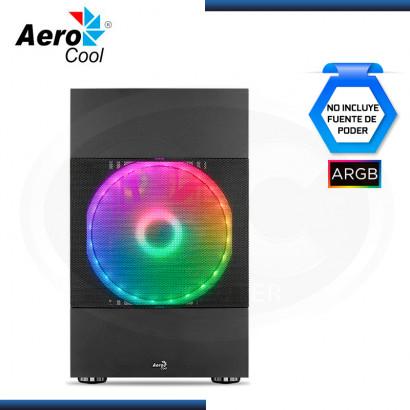 CASE AEROCOOL ATOMIC G-BK-V2 ARGB BLACK SIN FUENTE VIDRIO TEMPLADO USB 3.0 (PN:4710562757545)