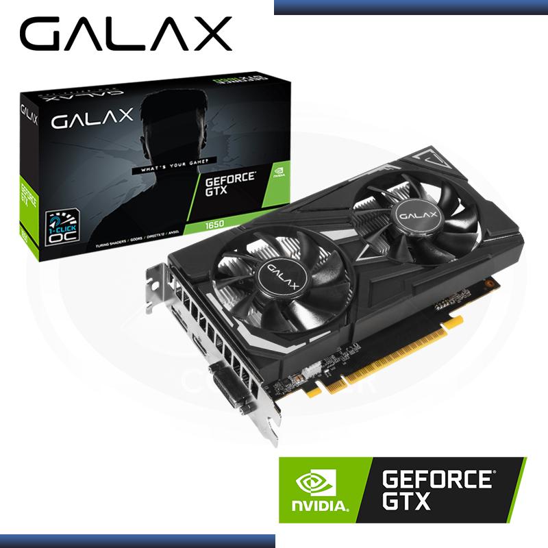 GALAX GEFORCE GTX 1650 4GB GDDR6 128BITS EX OC (PN:65SQL8DS66E6)