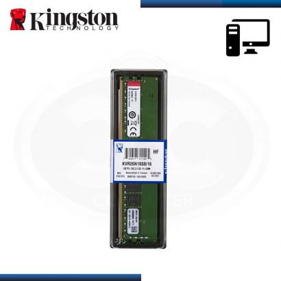 MEMORIA 16GB DDR4 KINGSTON KVR BUS 2666 MHZ (PN:KVR26N19S8/16)