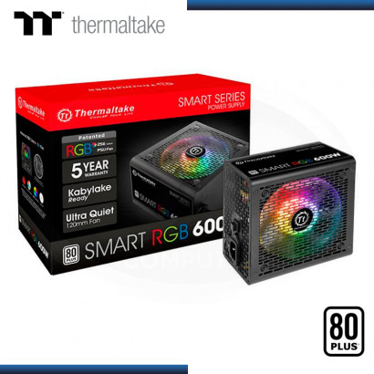 FUENTE THERMALTAKE SMART RGB 600W 80 PLUS WHITE (PN:PS-SPR-0600NHFAWU-1)