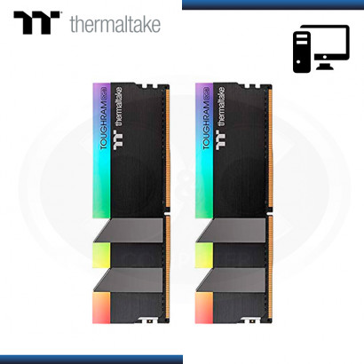 MEMORIA 16GB (2x8GB) DDR4 THERMALTAKE TOUGHRAM RGB BLACK BUS 4000MHZ (PN:R009D408GX2-4000C19A)