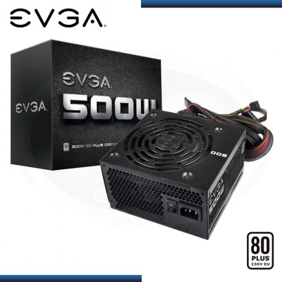 FUENTE EVGA 500W 80 PLUS WHITE (PN:100-W1-0500-KR)