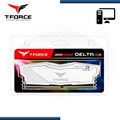MEMORIA 8GB DDR4 T-FORCE DELTA RGB WHITE BUS 3200MHZ (PN:TF4D48G3200HC16C01)
