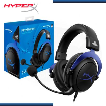AUDIFONO HYPERX CLOUD BLACK BLUE CON MICROFONO PS5-PS4 (PN:HX-HSCLS-BL/AM)