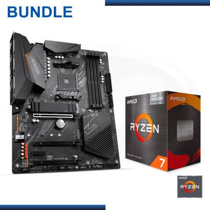 C&C COMBO : AMD RYZEN 7 5700G + MB AORUS B550 ELITE (REF:0-64652)