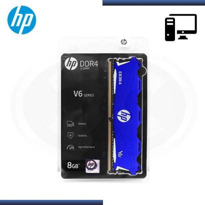 MEMORIA 8GB DDR4 HP V6 BLUE BUS 3000 MHZ CON DISIPADOR (PN:7EH64AA)
