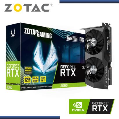 ZOTAC GEFORCE RTX 3060 12GB GDDR6 192BITS TWIN EDGE OC (PN:9288-5N630-501Z8)
