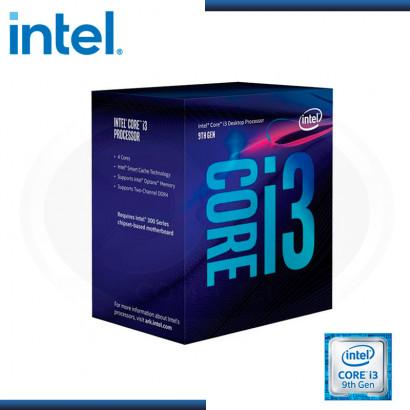PROCESADOR INTEL CORE I3 9100 3.60GHZ/6MB LGA 1151 (PN:BX80684I39100)
