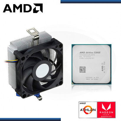 PROCESADOR AMD ATHLON 320GE 3.5GHZ/4MB 2CORE RADEON VEGA 3 AM4 OEM (PN:YD32GEC6FHMPK)