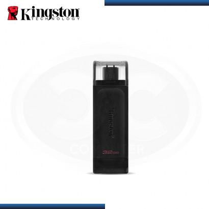 MEMORIA USB-C 32GB KINGSTON DATA TRAVELER 70 V 3.2 BLACK (PN:DT70/32GB)