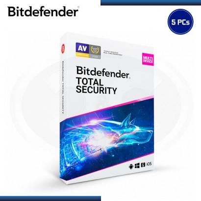 BITDEFENDER TOTAL SECURITY 2021 5PCs 1 AÑO + 3 MESES (PN:B11030024)