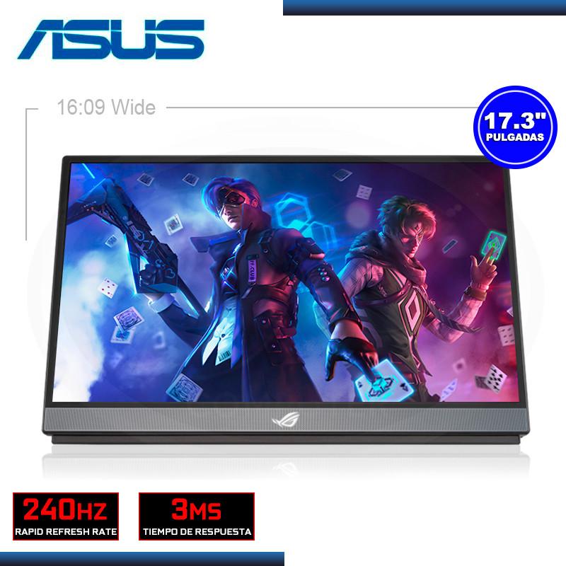 "MONITOR LED 17.3"" ASUS ROG STRIX XG17AHPE PORTATIL 1920x1080 USB-C MICRO HDMI 3MS/240Hz/ADAPTIVE-SYNC (PN:90LM05G1-B011B0)"