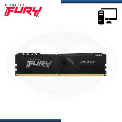 MEMORIA 16GB DDR4 KINGSTON FURY BEAST BUS 3200MHZ BLACK (PN:KF432C16BB/16)