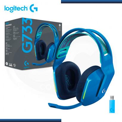 AUDIFONO LOGITECH G733 RGB CON MICROFONO LIGHTSPEED BLUE WIRELESS (PN:981-000942)