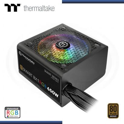 FUENTE THERMALTAKE SMART SERIES BX1RGB 650W 80 PLUS BRONZE (PN:PS-SPR-0650NHFABU-1)