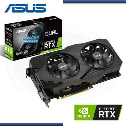 ASUS GEFORCE DUAL RTX 2060 6GB GDDR6 192BITS EVO (PN:90YV0CH4-M0AA00)
