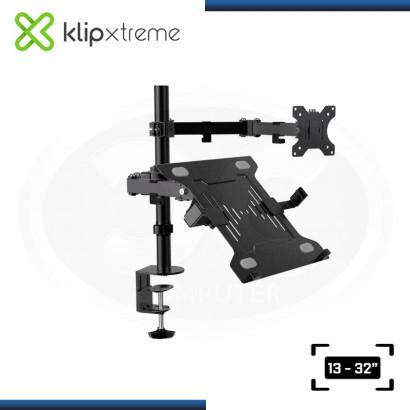 """KLIP XTREME KMM-301 SOPORTE PARA TV/ MONITOR & LAPTOP TAMAÑO 13-32"""""""