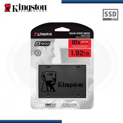 "SSD 1.92TB KINGSTON SSDNOW A400 SATA3 2.5"" (PN:SA400S37/1920G)"