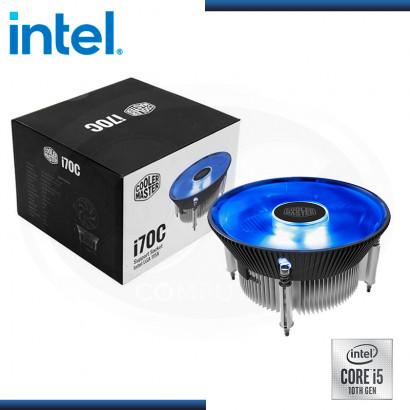 C&C COMBO : PROCESADOR INTEL CORE I5-10400T + COOLER MASTER I70C LED BLUE REFRIGERACION AIRE (REF:0-66435)