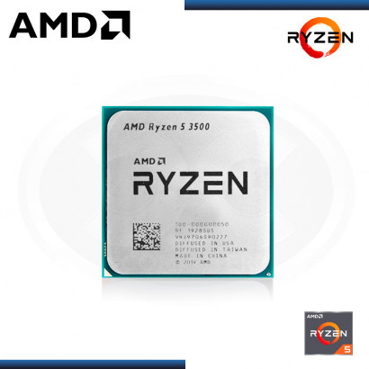PROCESADOR AMD RYZEN 5 3500 3.6GHz/16MB 6CORE AM4 OEM (PN:100-100000050MPK)