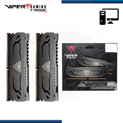 MEMORIA 64GB (2x32) VIPER GAMING STEEL DDR4 BUS 3200Mhz GRIS CON DISIPADOR (PN:PVS464G320C6K)
