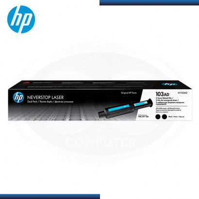 TONER HP 103AD LASER BLACK PACKx2 (PN:W1103AD)