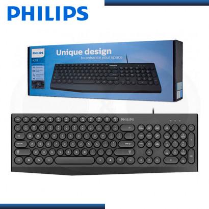 TECLADO PHILIPS K313 MULTIMEDIA USB BLACK (PN:SPK6313/00)