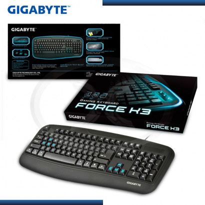 TECLADO GAMING  GIGABYTE FORCE K3 USB, NEGRO