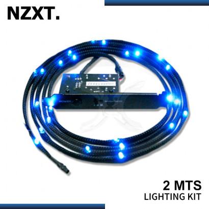 KIT CABLE LED NZXT SLEEVED 2MTS BLUE (PN:CB-LED20-BU)