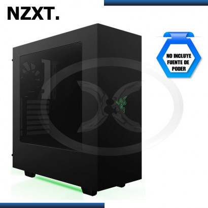 CASE NZXT S340 RAZER BLACK/GREEN USB 3.0, SIN FUENTE, MID TOWER (PN:CA-S340W-RA)